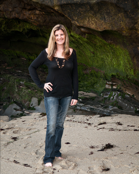 Full length casual portrait at La Jolla Cove