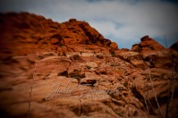 Red Rocks blue sky lensbaby