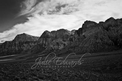 blck and white desert vista