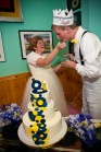Feeding Groom cake