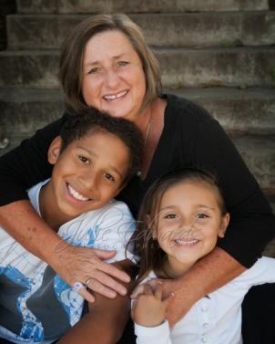 Grandma and two grandchildren