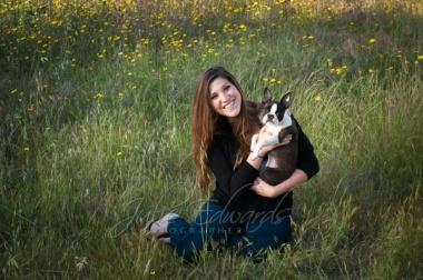 Happy Woman happy puppy