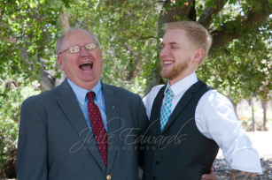 Groom laughing with Dad