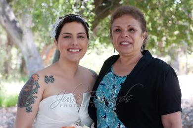 Gandma and bride
